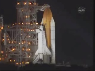 Endeavour on the Pad