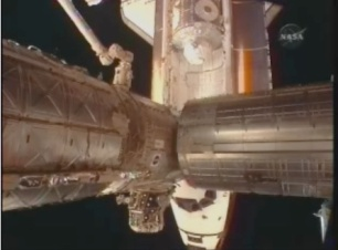 Shuttle from ISS View Port