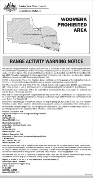 Woomera Prohibited Area