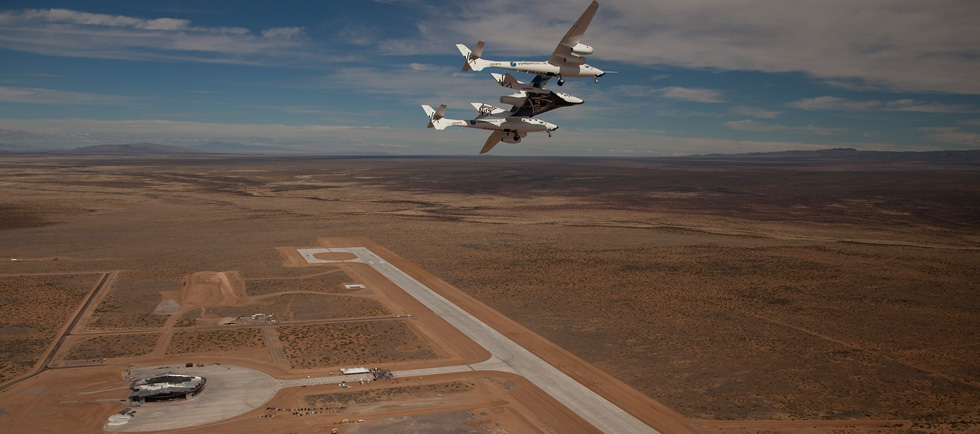 Approach to Spaceport America