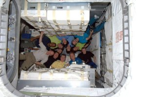 ISS and 133 crew