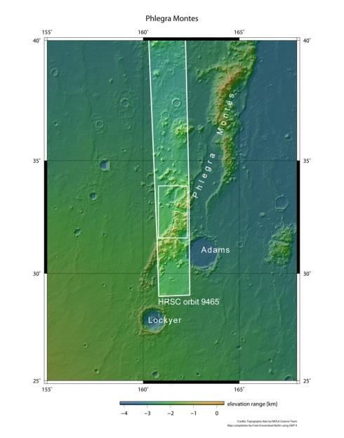Phlegra Montes Range