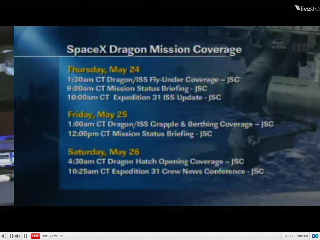 nasa tv schedule - HD1024×768