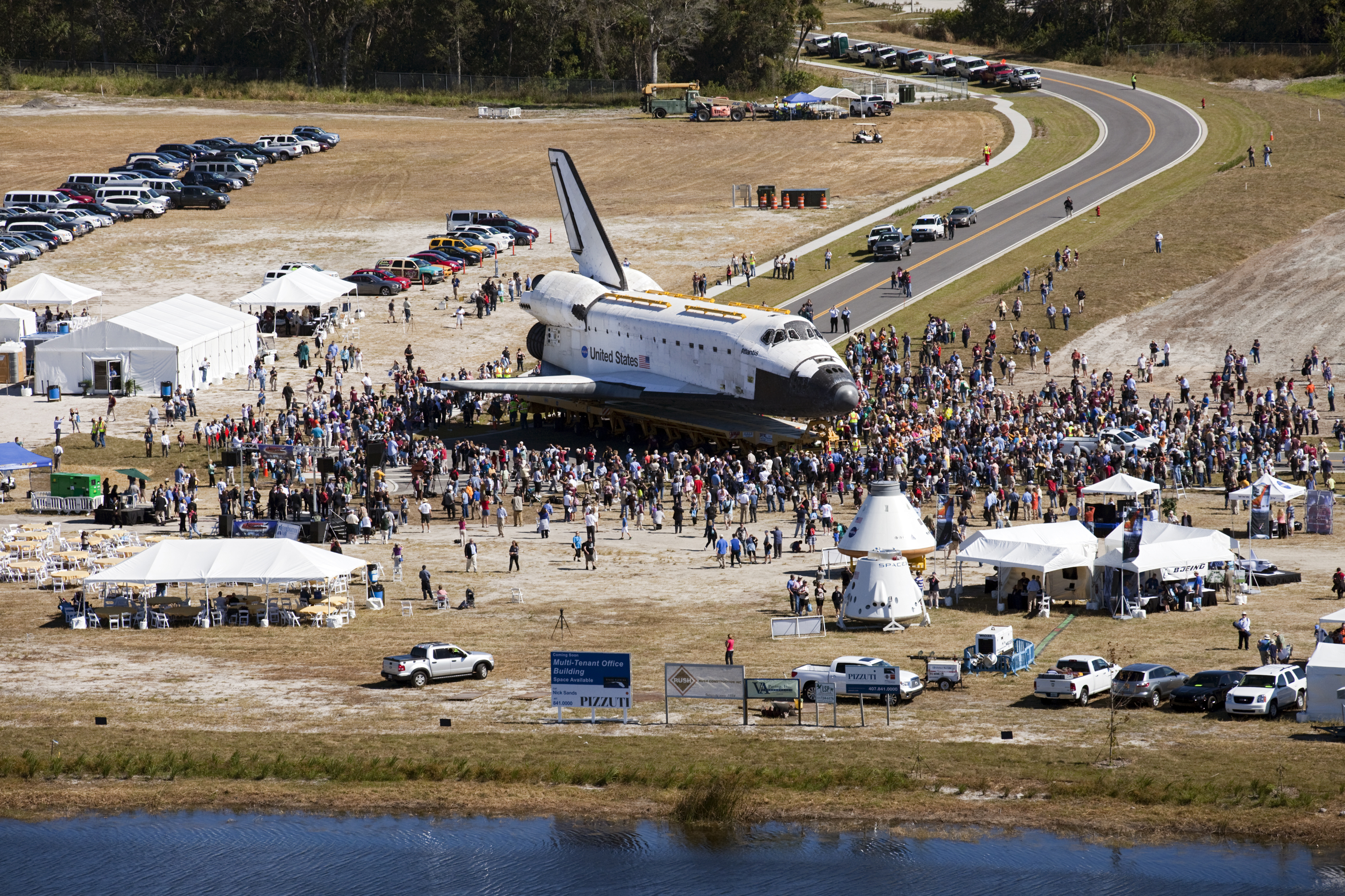 space shuttle atlantis north lawn launch viewing - photo #5