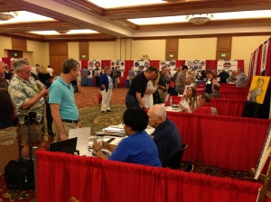 Autograph seekers line up for famous astronauts at the 2013 Spacefest in Tucson.