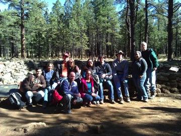 Post-hike group photo