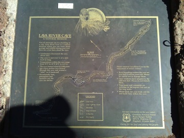 Entrance plaque showing map of cave