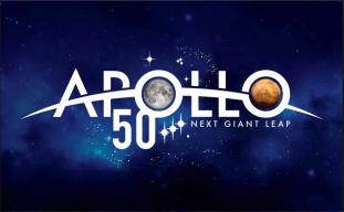 Apollo 50 year logo